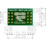 לוח מתאם לרכיבי SOIC-16 ~ DIP - SMD