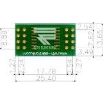 לוח מתאם לרכיבי SOIC-16W ~ DIP - SMD