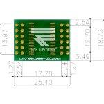 לוח מתאם לרכיבי SOIC-24W ~ DIP - SMD