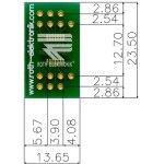 לוח מתאם לרכיבי TSSOP-14 ~ DIP - SMD