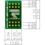 לוח מתאם לרכיבי TSSOP-16 ~ DIP - SMD