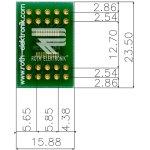 לוח מתאם לרכיבי TSSOP-20 ~ DIP - SMD