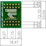 לוח מתאם לרכיבי TSSOP-24 ~ DIP - SMD