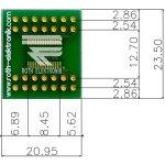 לוח מתאם לרכיבי TSSOP-28 ~ DIP - SMD