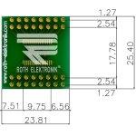 לוח מתאם לרכיבי TSSOP-32 ~ DIP - SMD
