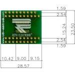לוח מתאם לרכיבי TSSOP-38 ~ DIP - SMD