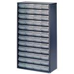 ארונית פלדה לאחסון רכיבים - 48 מגירות - 552X306X150MM