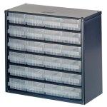 ארונית פלדה לאחסון רכיבים - 24 מגירות - 306X282X150MM