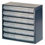 ארונית פלדה לאחסון רכיבים - 30 מגירות - 306X282X150MM