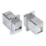מתאם מסוכך לפנל (USB A (F) - USB B (F