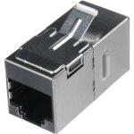מתאם תקשורת מסוכך - RJ45 (F) ~ RJ45 (F) - CAT6A