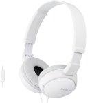 אוזניות HI-FI עם דיבורית - SONY MDR-ZX110AP WHITE