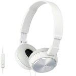אוזניות HI-FI עם דיבורית - SONY MDR-ZX310AP WHITE