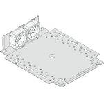 תחתית פלדה עם מאווררים למארז 19 אינץ' - 1U - עומק 221MM