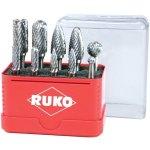 סט פצירות מסתובבות להורדת גרדים - 10 יחידות - RUKO 116002