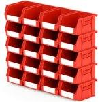 סט 20 תאי אחסון מודולריים אדומים - 135MM X 105MM X 75MM