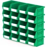 סט 20 תאי אחסון מודולריים ירוקים - 135MM X 105MM X 75MM