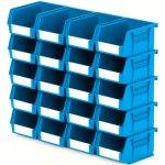 סט 20 תאי אחסון מודולריים כחולים - 135MM X 105MM X 75MM