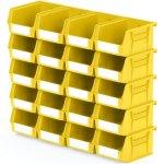 סט 20 תאי אחסון מודולריים צהובים - 135MM X 105MM X 75MM