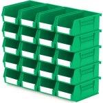 סט 20 תאי אחסון מודולריים ירוקים - 190MM X 105MM X 75MM