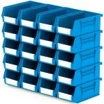 סט 20 תאי אחסון מודולריים כחולים - 190MM X 105MM X 75MM