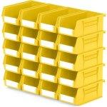 סט 20 תאי אחסון מודולריים צהובים - 190MM X 105MM X 75MM