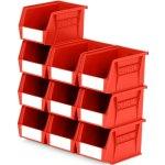 סט 10 תאי אחסון מודולריים אדומים - 210MM X 140MM X 130MM