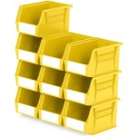 סט 10 תאי אחסון מודולריים צהובים - 210MM X 140MM X 130MM