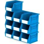 סט 10 תאי אחסון מודולריים כחולים - 210MM X 140MM X 130MM