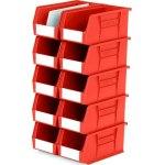 סט 10 תאי אחסון מודולריים אדומים - 280MM X 140MM X 130MM