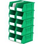 סט 10 תאי אחסון מודולריים ירוקים - 280MM X 140MM X 130MM