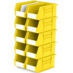 סט 10 תאי אחסון מודולריים צהובים - 280MM X 140MM X 130MM