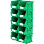 סט 10 תאי אחסון מודולריים ירוקים - 280MM X 210MM X 180MM