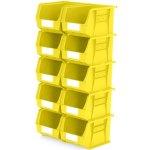 סט 10 תאי אחסון מודולריים צהובים - 280MM X 210MM X 180MM