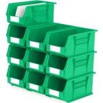 סט 10 תאי אחסון מודולריים ירוקים - 375MM X 210MM X 180MM
