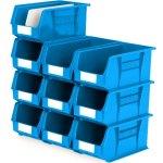 סט 10 תאי אחסון מודולריים כחולים - 375MM X 210MM X 180MM