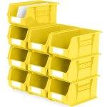 סט 10 תאי אחסון מודולריים צהובים - 375MM X 210MM X 180MM