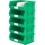 סט 5 תאי אחסון מודולריים ירוקים - 420MM X 375MM X 180MM