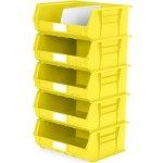 סט 5 תאי אחסון מודולריים צהובים - 420MM X 375MM X 180MM