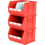סט 3 תאי אחסון מודולריים אדומים - 455MM X 420MM X 295MM