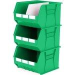 סט 3 תאי אחסון מודולריים ירוקים - 455MM X 420MM X 295MM