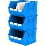 סט 3 תאי אחסון מודולריים כחולים - 455MM X 420MM X 295MM