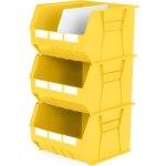 סט 3 תאי אחסון מודולריים צהובים - 455MM X 420MM X 295MM