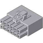 מחבר MOLEX ללחיצה לכבל - סדרת ULTRA-FIT - נקבה 6 מגעים