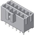 מחבר MOLEX למעגל מודפס - סדרת ULTRA-FIT - זכר 6 מגעים