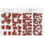 קיט קבלים פוליאסטר - 8 ערכים - 135 יחידות - NOVA CCC-61
