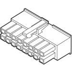 מחבר MOLEX ללחיצה לכבל - סדרת MINI-FIT JR - נקבה 12 מגעים