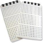 חבילת מדבקות סימון לכבלים - (25X6.5MM - (1~45
