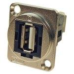מתאם לפנל - USB 2.0 A (F) ~ USB 2.0 A (F) - CSK HOLES