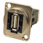 מתאם לפנל - USB 2.0 A (F) ~ USB 2.0 B (F) - CSK HOLES